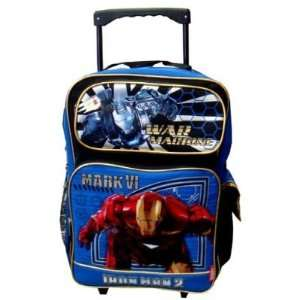 Marvel Iron Man 2 War Machine Rolling Backpack   Large Toys & Games