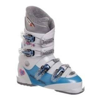 Rossignol Fun Girl J4 Girls Ski Boots   Size 23.5   Light Blue White