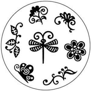 Queen & Co Clear Rubber Stamp Set, Dragonfly Arts, Crafts