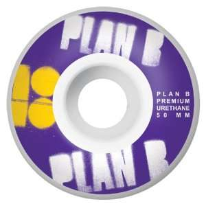 Plan B Stencil Series 50MM Skateboard Wheels (Set of 4