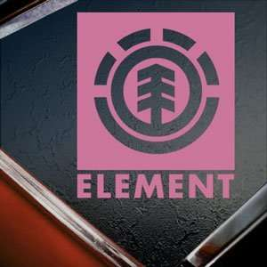 ELEMENT Pink Decal Skateboard Snowboard Window Pink