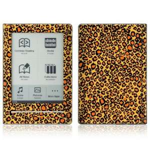 Orange Leopard Design Protective Decal Skin Sticker for Sony
