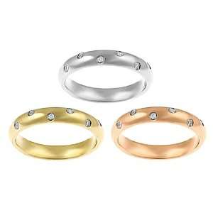 Stainless Steel Tri color Cubic Zirconia Rings (Set of 3) Jewelry