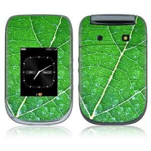 BlackBerry Style 9670 Decal Skin   Green Leaf Texture