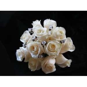 8x10mm Crystal Bronze Shade ABx2 Swarovski Crystal 12 Floral Picks