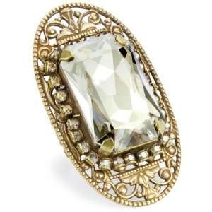 Liz Palacios Piedras Swarovski Elements Crystal Bar Ring Jewelry