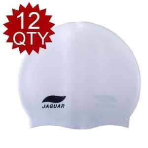 JAGUAR™ Silicone Swim Cap, Solid Color Swimming Cap