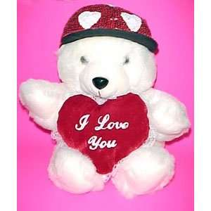 VALENTINE Plush Cuddly White Teddy Bear Toys & Games