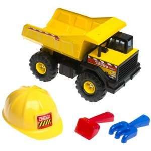 Tonka Mighty Dump Truck With Hard Hat & Tools: Toys & Games