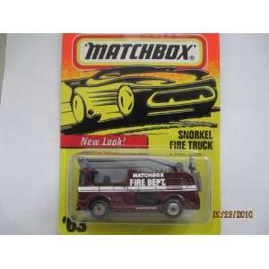 Matchbox Snorkel Fire Truck #63 Toys & Games