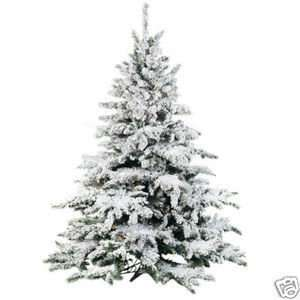 9 Flocked Pre Lit Christmas Tree Frosted Snow Pine