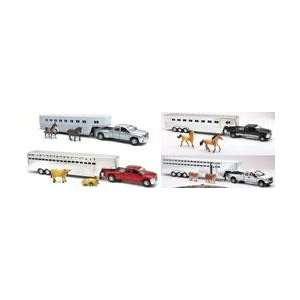 New Ray Toys AS10820 132 Scale Die Cast Ford/Dodge Fifth Wheel Truck