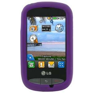 LG 800G Silicone Skin Soft Phone Cover   Purple: Cell