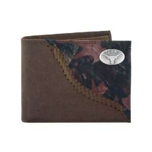 Camo Leather Bifold Concho Wallet, One Size