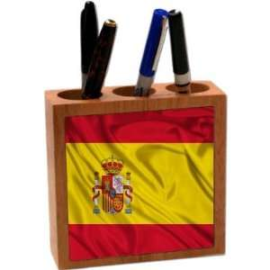 com Rikki KnightTM Spain Flag 5 Inch Tile Maple Finished Wooden Tile