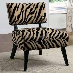 Zebra print Accent Chair by Coaster Furniture: Furniture & Decor