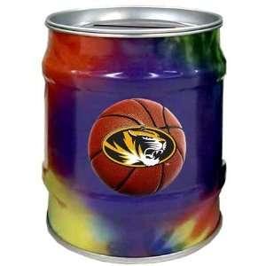 Missouri Tigers MIZZOU MU NCAA Basketball Tie Dye Tin Bank