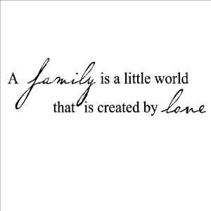 Family Is A Little World Created By Love Vinyl Lettering Wall