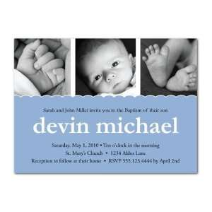 Invitations   Multi Photo Boy Baptism Invitations By Erin And Ilene