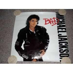 Michael Jackson 1987 BAD Vintage CBS Promo Poster
