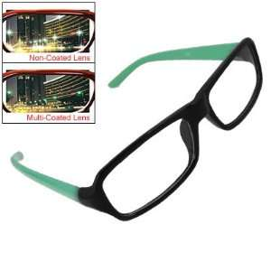 Rosallini Green Black Plastic Rim Lady Multi Coated Lens