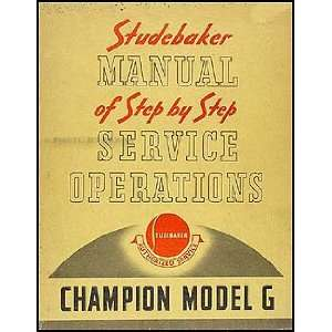 1939 Champion Manual of Step by step Service Operations