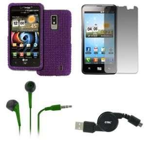 EMPIRE LG Spectrum VS920 Full Diamond Bling Design Case Cover (Purple