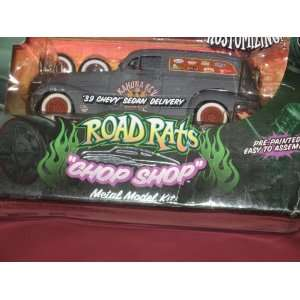 ROAD RATS CHOP SHOP METAL MODEL KIT 1939 CHEVY SEDAN DELIVERY GRAY
