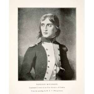 1899 Print Portrait Napoleon Bonaparte Corsica French Military