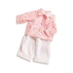 : Lee Middleton Dolls Polka Dot Shirt with White Jeans: Toys & Games
