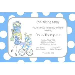 Bearing Gifts Boy, Custom Personalized Baby Shower Invitation, by