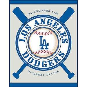 Biederlack Double Header Los Angeles Dodgers Beach Towel