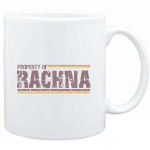 Mug White  Property of Rachna   Vintage  Female Names