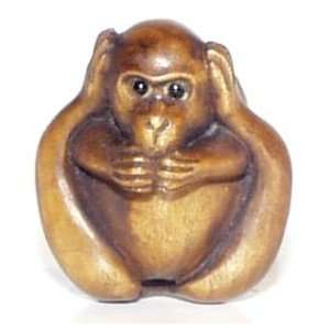 Monkey Hear / Speak No Evil ~ Ojime: Kitchen & Dining
