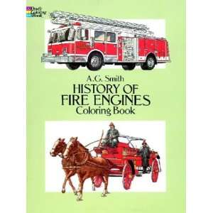 History of Fire Engines Coloring Book (Dover History