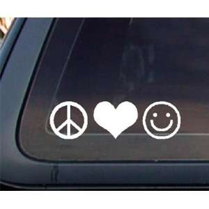 Peace Love Happiness Car Decal / Sticker