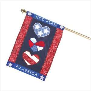 God Bless America Mini Flag   Style 90024 Patio, Lawn