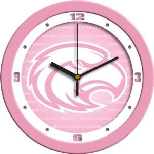 Southern Miss Golden Eagles USM NCAA 12In Pink Wall Clock