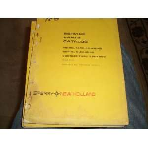Service Parts Catalog Sperry New Holland Model 1400