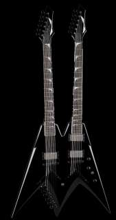 DEAN DAVE MUSTAINE VMNT DOUBLE NECK BLACK PRE ORDER