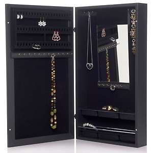Over the Door Space Saving Jewelry Armoire with Mirror at HSN