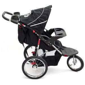 Duo Nero Black 3 wheel baby stroller / pushchair: .co.uk: Baby