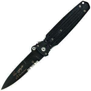 05786 Covert, Black Blade, Double Edge, 154CM at OutdoorPros