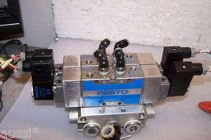 FESTO JMFH 5 1/4 B PNEUMATIC VALVES 2 MANIFOLD 120V