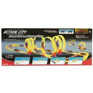 Action City High Speed Track Set with Pull Back Car: .co.uk