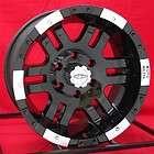 17 inch Black Wheels Rims Chevy HD Dodge Ram H2 8 Lug items in Wheel