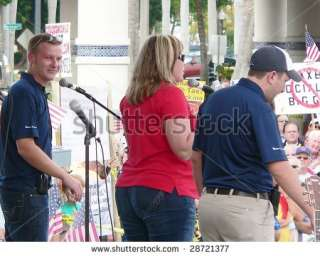 WINK News Radio and her co hosts in Ft. Myers on April 15, 2009 in