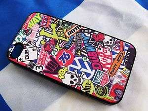 Stickerbomb i Phone iPhone 4 4S Case Cover Sticker bomb VW Camper