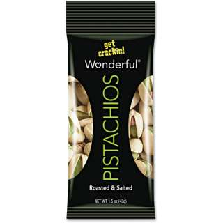 Paramount Farms Wonderful Pistachios, 24 1.5 oz Bags/Box