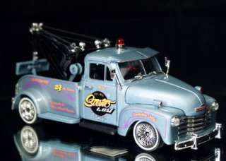 1953 Chevy Tow Truck Jada STREET LOW Diecast 124 Scale   Blue